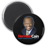Herman Cain for President 2012 2 Inch Round Magnet