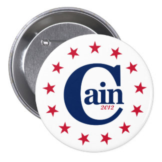 """Herman Cain for President 2012 3"""" Campaign Button"""