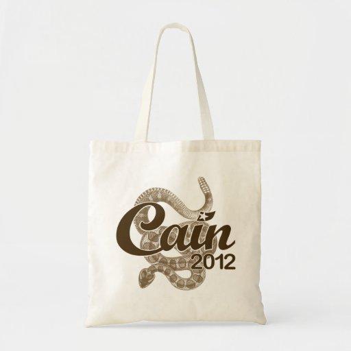 "Herman Cain for President 2012 DTOM ""Tea Tote"" Budget Tote Bag"