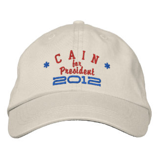 Herman Cain for President 2012 Embroidered Baseball Hat