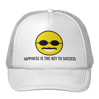"""Herman Cain for President 2012 """"Smiley"""" Happiness Trucker Hat"""