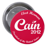 """Herman Cain for President 2012 """"Spirit"""" Button R"""