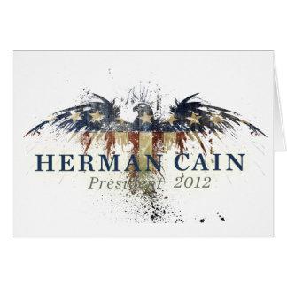 Herman Cain for President Card