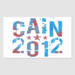Herman Cain for President in 2012 Rectangle Sticker