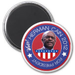 Herman Cain for US President 2012 2 Inch Round Magnet