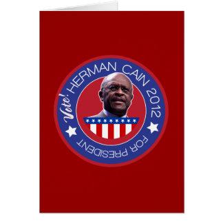 Herman Cain for US President 2012 Card
