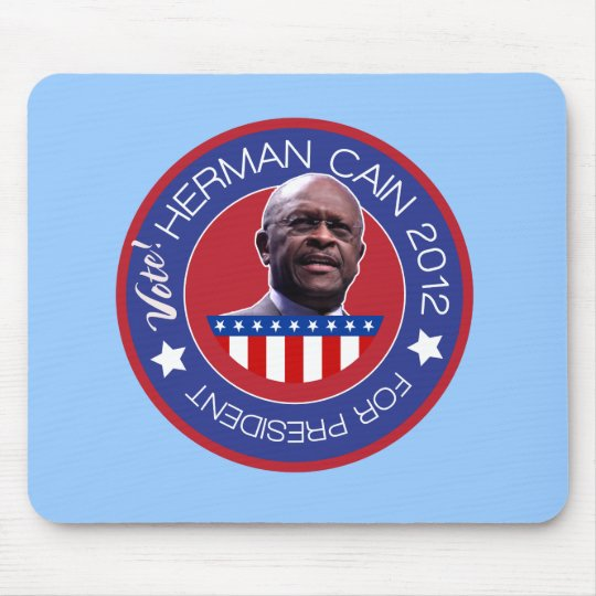 Herman Cain for US President 2012 Mouse Pad