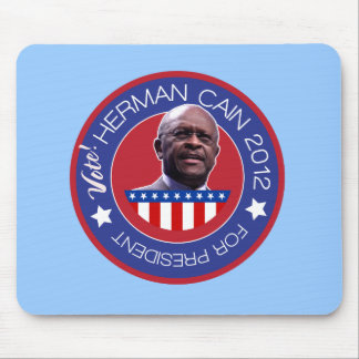 Herman Cain for US President 2012 Mouse Pads