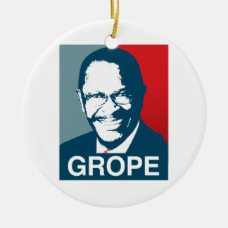 Herman Cain Grope Christmas Ornaments
