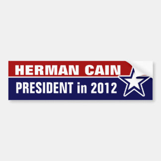 Herman Cain in 2012 Bumper Sticker