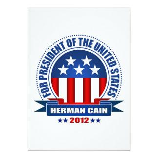 Herman Cain Personalized Invitation