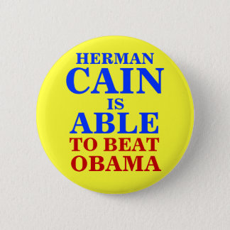 herman cain is able 2012 pinback button