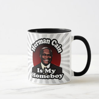 Herman Cain is My Homeboy, Retro Style Mug