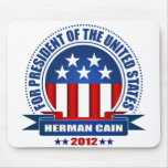 Herman Cain Mouse Pad