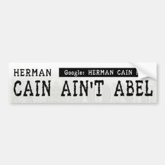 Herman Caín no es Abel Pegatina Para Auto