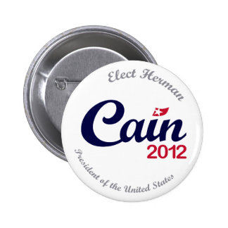 Herman Caín para el botón 2,5 del presidente 2012  Pin