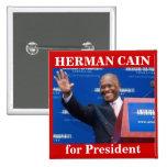 Herman Caín para el botón de Presiden Pins