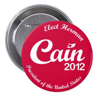 """Herman Caín para el botón R del presidente 2012 """"a Pin"""