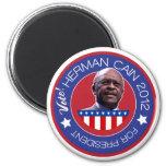 Herman Caín para el presidente 2012 de los E.E.U.U Imán Redondo 5 Cm