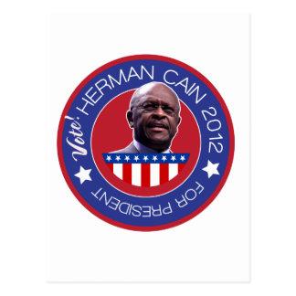 Herman Caín para el presidente 2012 de los Tarjeta Postal