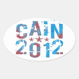 Herman Caín para el presidente en 2012 Pegatina Ovalada