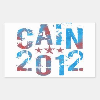 Herman Caín para el presidente en 2012 Pegatina Rectangular