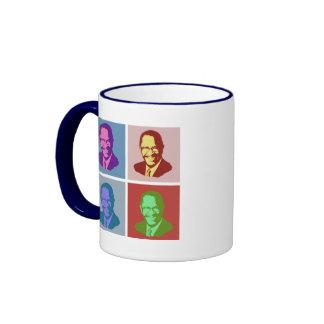 Herman Cain Pop Art Ringer Coffee Mug