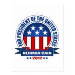 Herman Cain Post Card