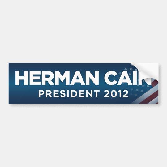 Herman Cain President 2012 Bumper Sticker