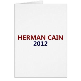 Herman Cain President 2012 Card