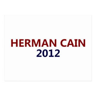 Herman Cain President 2012 Postcard