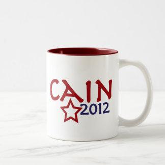 Herman Cain President 2012 Two-Tone Coffee Mug