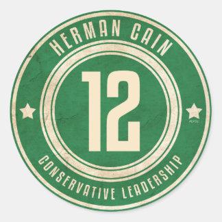 Herman Cain Round Sticker