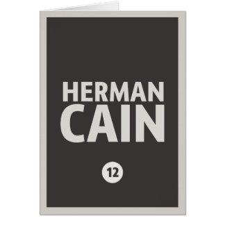 Herman Caín Tarjeta De Felicitación