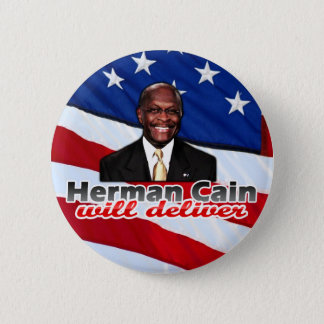 Herman Cain Will Deliver, Right-Wing Pizza Parody Button
