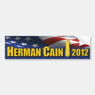Herman Cain Yellow Tie 2012 Bumper Sticker