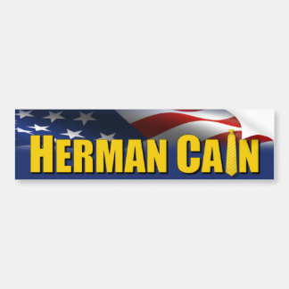 Herman Cain Yellow Tie 2012 Bumper Sticker