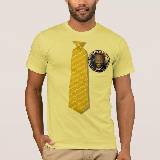 Herman Cain Yellow Tie T-Shirt
