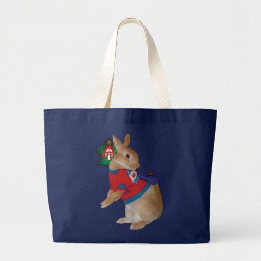Herman el conejo bolsa tela grande