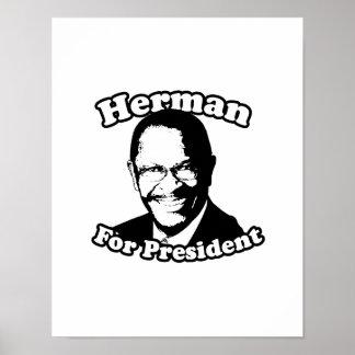 Herman for President Poster