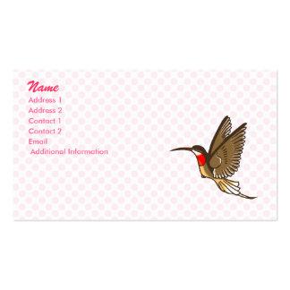 Herman Hummingbird Business Card