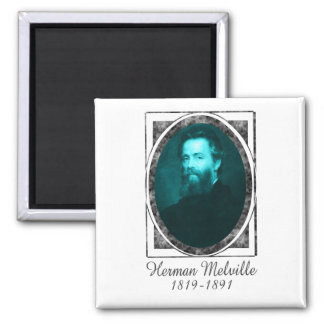 Herman Melville 2 Inch Square Magnet