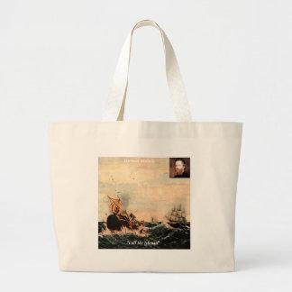 Herman Melville Call Me Ishmael Quote Tote Bags