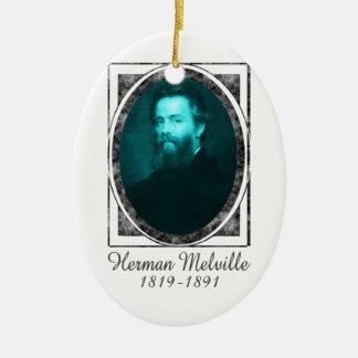 Herman Melville Ceramic Ornament