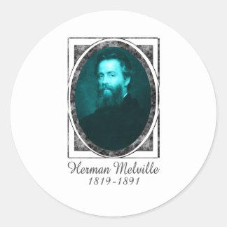 Herman Melville Classic Round Sticker