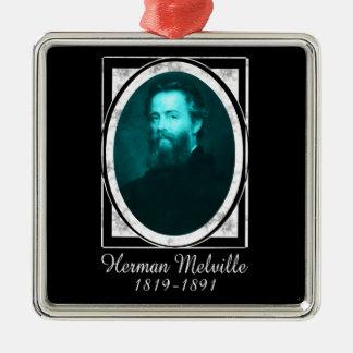 Herman Melville Metal Ornament