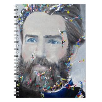 herman melville - oil portrait notebook