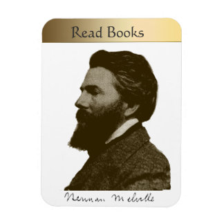 Herman Melville Rectangular Photo Magnet