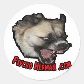 Herman psico .com etiquetas redondas