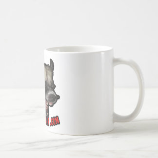 Herman psico .com taza básica blanca